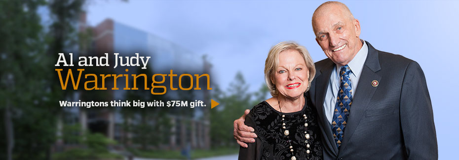 Warringtons think big with $75M gift