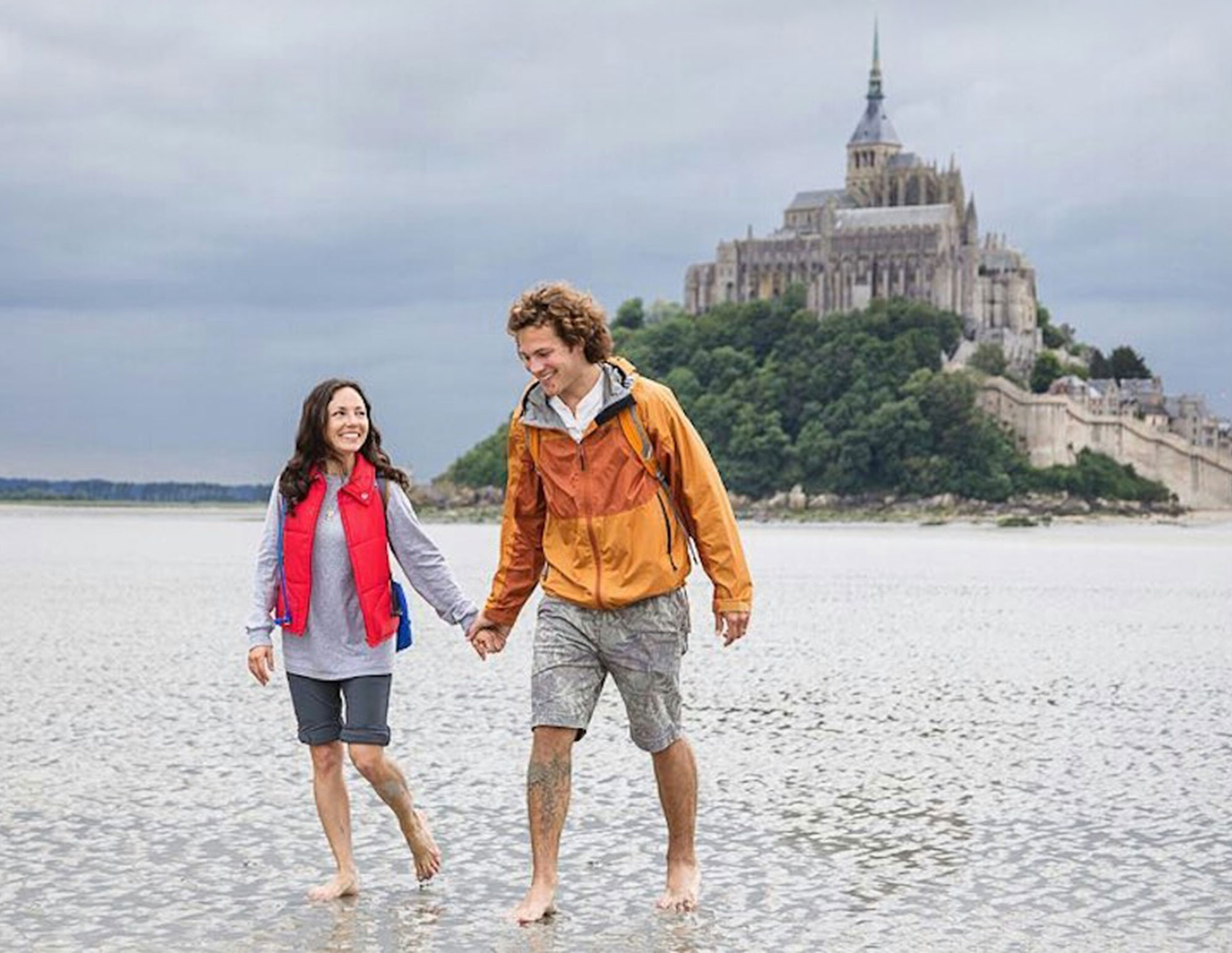 We loved the sensation of these tidal flats underfoot near Mont St. Michel in France during the European leg of our adventure.