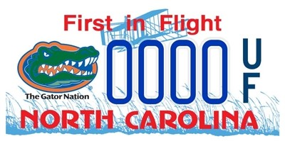 North Carolina UF license plate