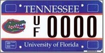 Tennessee UF license plate