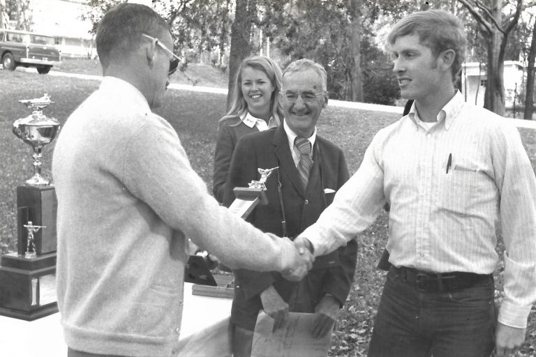 At the University of Florida, David Waller received accolades for his skills on the rifle team.