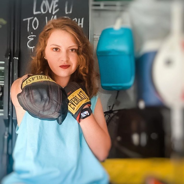 """Like most students, Mariel went home when UF closed its doors in mid-March. Quarantine created an opportunity for her to learn a new sport – boxing – but she admits the public health crisis is """"devastating.""""<br><br>  The pandemic echoes many of the hardships she has personally experienced with her illness: being afraid for one's health and safety, staying on constant alert, being distanced from friends.<br><br>  But we will get through this, she says, quoting Ecclesiastes 3: """"There is a time for everything… a time to weep and a time to laugh, a time to mourn and a time to dance… a time to embrace and a time to refrain from embracing."""""""