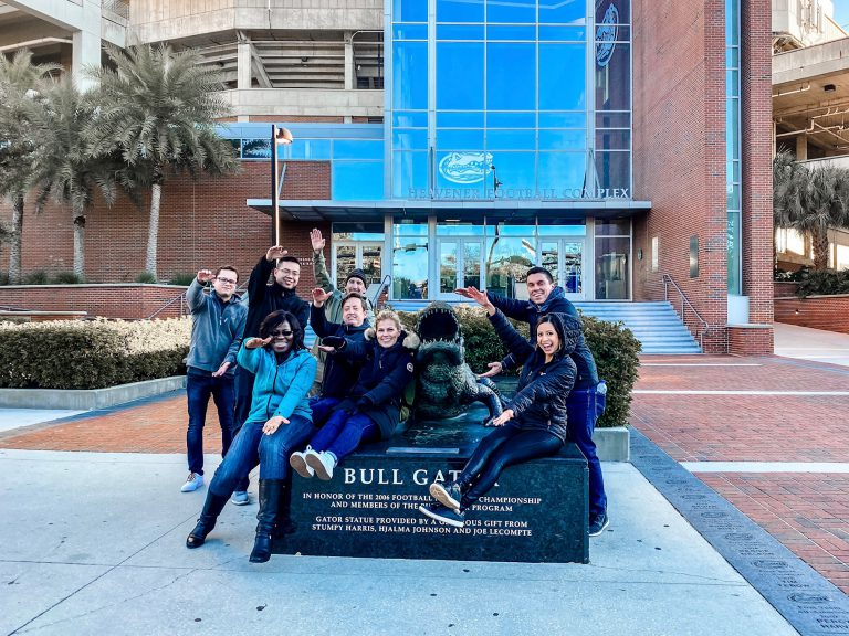 Each year, TI hosts a UF Gator Day in Dallas, and sends a team of recruiters to UF's job fair in Gainesville.
