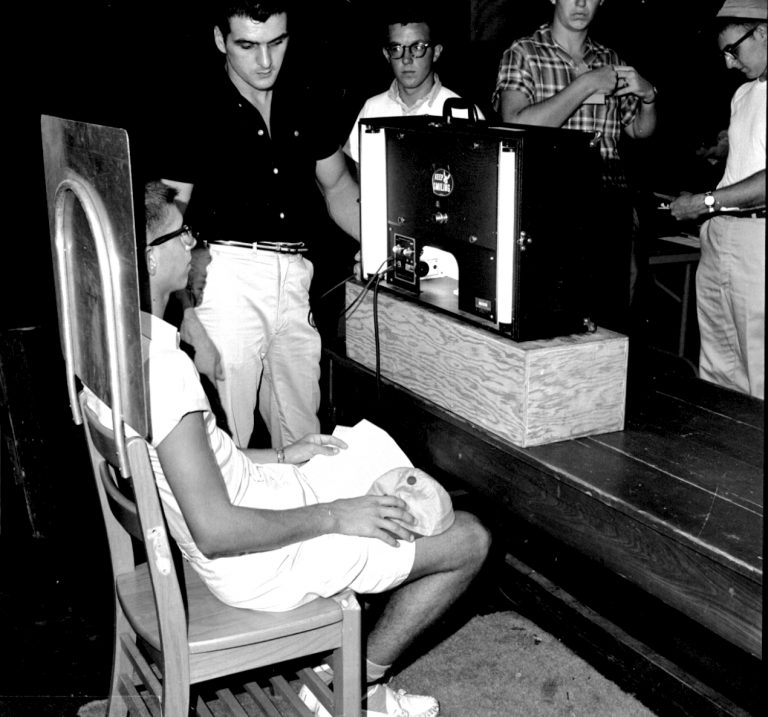 Photo IDs were introduced at UF in the 1950s. The start of each new academic year meant that students had to sit for a new picture ID.