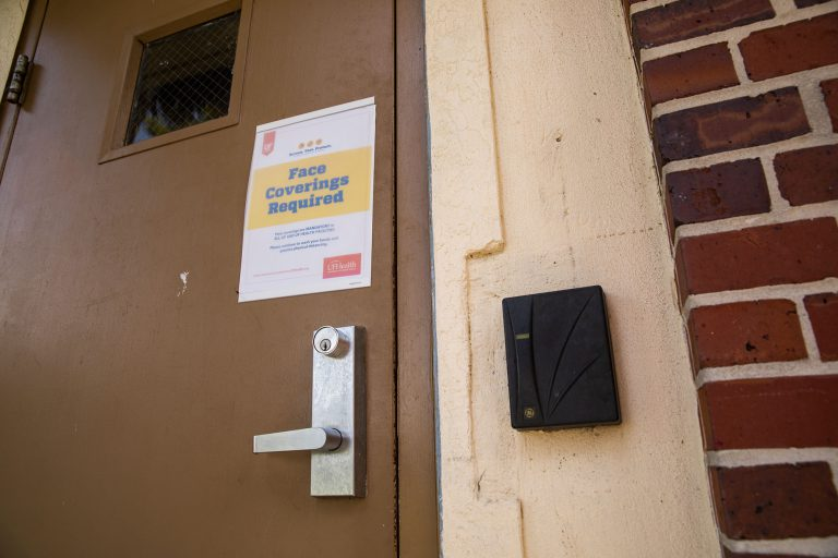 Face coverings are required inside all classrooms and common areas at the University of Florida.