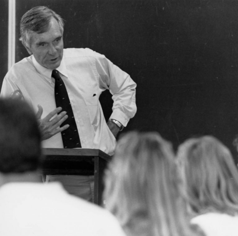 After serving three terms in the U.S. Senate, Lawton Chiles returned to his alma mater to teach political science before clinching the Florida governorship in 1990 and 1994. As of 2021, his victories remain the last by a Democratic candidate in a Florida gubernatorial election.