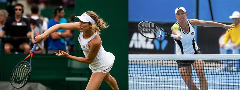 """Danielle Collins, left, is one of only three WTA players in the Top 100 who participated in college tennis. The last Gator to achieve such success is Lisa Raymond, right, who won national championships at UF in 1992 and 1993, and has since won 11 Grand Slam doubles titles. Raymond finished second in a recent International Tennis Hall of Fame fan poll. She once said about her decision to play college tennis: """"It was without question one of the best decisions, if not the best decision, I have ever made. Those two years helped build me into the person I am and the tennis player I became."""""""