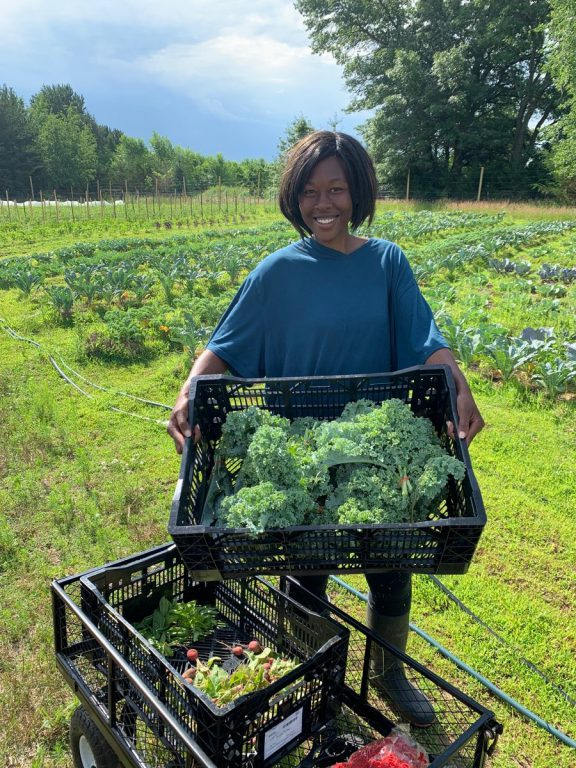 With help from the state, Witter secured funding in her second year of farming to install a drip irrigation system. That was a vast improvement over her first year, when she spent five to six hour a day watering her crops by hand – before and after teaching classes at Bethel University.