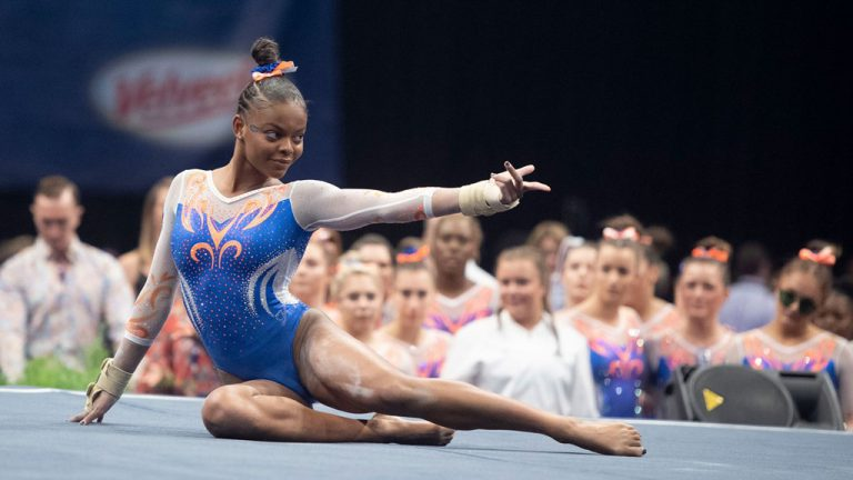 While she and her team aim for a national championship this season, UF junior Trinity Thomas also will be training for the Olympics.