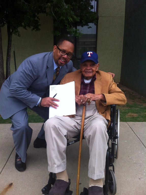 Francis visits one of the 20,000 plaintiffs he represented in the record-breaking Black Farmers II class-action suit.