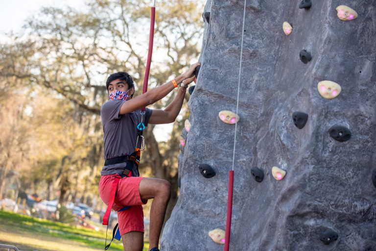 While the sun set over Norman Field, students rock climbed, played laser tag and ordered from food trucks.
