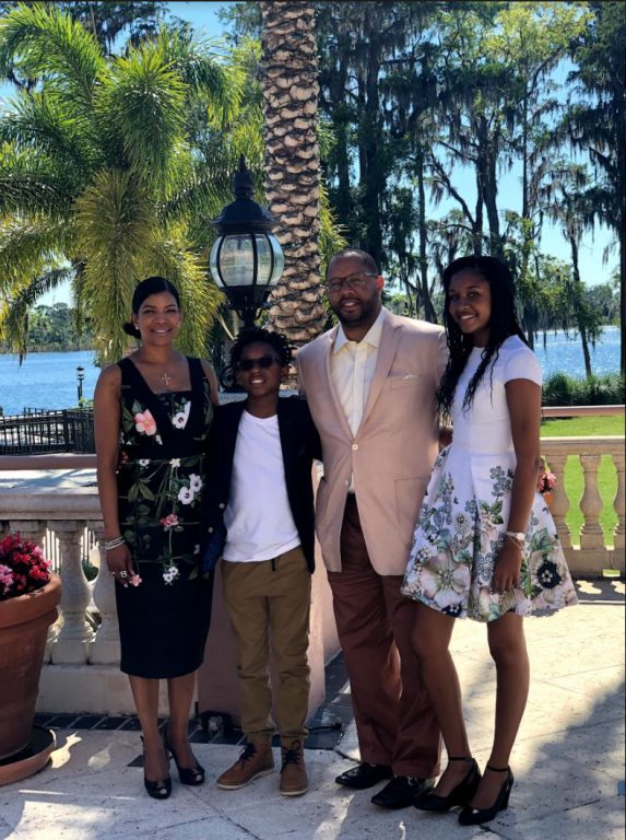 """Greg Francis' family (from left) include his wife, Keisha, son, Gregorio """"Rio,"""" and daughter Grier. With their support, his new Just Harvest Foundation is investing in Black families, communities and entrepreneurs throughout Florida. Francis created the foundation with proceeds from his landmark civil rights case."""