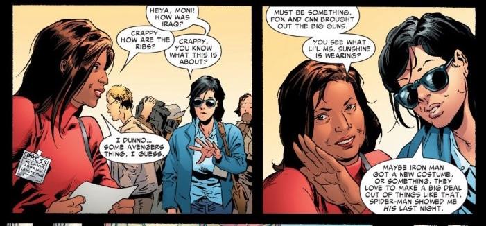 "Basu made a brief appearance in a Marvel Comics' ""Civil War"" series."