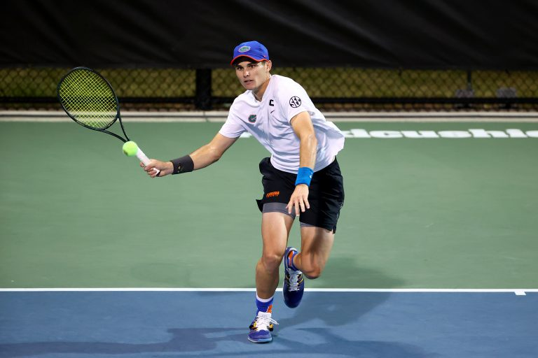 In May, UF rising senior Sam Riffice helped the Gators bring home this year's regular SEC season championship (ninth in UF history; giving UF the most of any program in the conference), the national title (first in UF history) and a singles national championship (third in UF history). Days after these wins, Riffice received his fourth All-American title from the Intercollegiate Tennis Association.