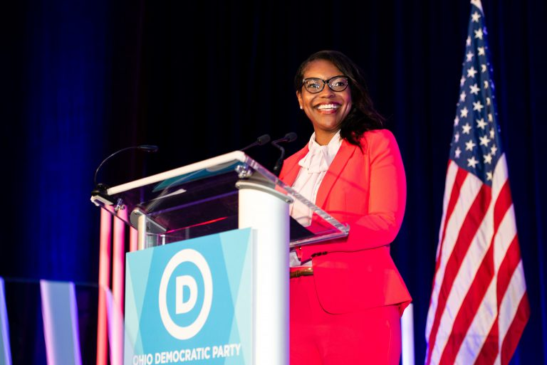 Emilia Sykes, this year's Ohio House of Representative's minority leader, hasn't ruled out running for higher office when her current term ends.